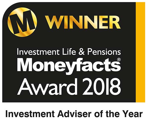 Moneyfacts award 2018 - Investment Adviser of the year