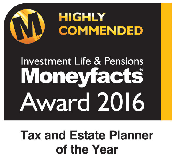 Moneyfacts award 2016 - Tax and Estate Planner of the Year